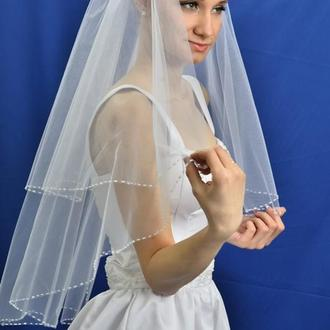 "Свадебная фата ""Пунктирная кайма"""