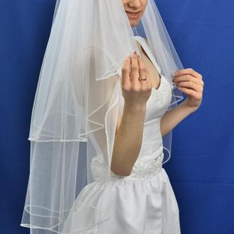 """Свадебная фата """"Кайма Елочка"""""""