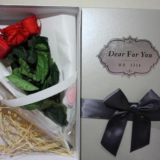 Подарунковий букет з стабілізованих троянд(стабілізовані троянди)
