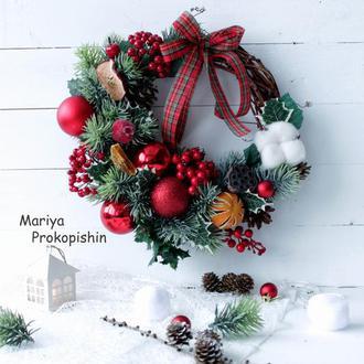 """Різдвяний вінок """"В очікуванні свята"""""""