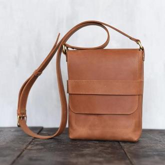 Мужская сумка Casual Bag через плечо из винтажной кожи