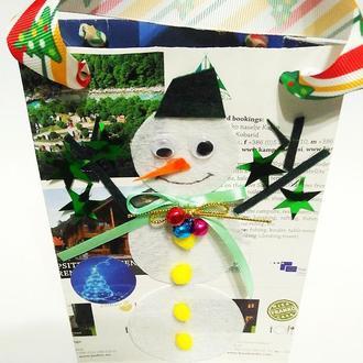Подарочные пакеты Снеговики