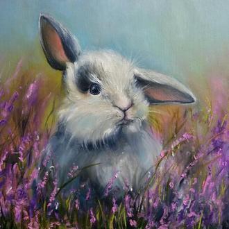 Картина маслом живопись Кролик