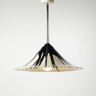 Люстра из керамики Керамический подвес Черно - белый потолочный подвесной светильник