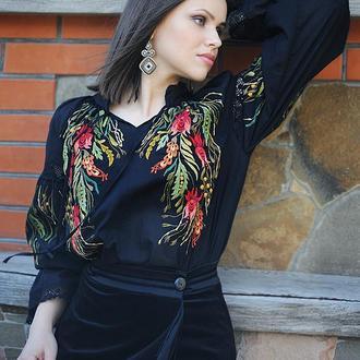 """Блуза с вышивкой """"Лунные травы"""""""