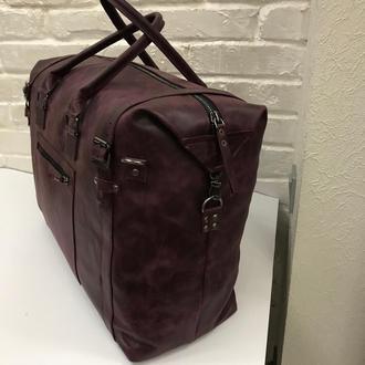 Дорожная кожаная сумка. Кожаная сумка авиа ручной клади.