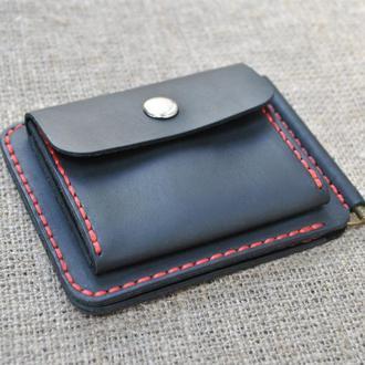 Маленький кошелек с прижимным механизмом для купюр Z05-0+red
