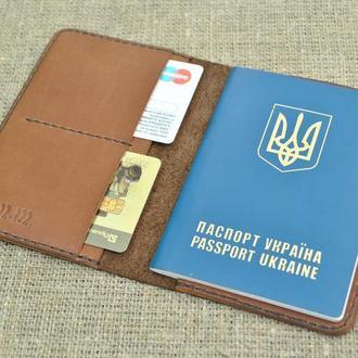 Стильная обложка для паспорта из кожи P02-450+210