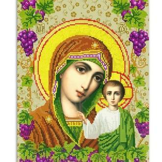 """Ікона """"Матір Божа з Ісусом"""", чеський бісер, на замовлення"""