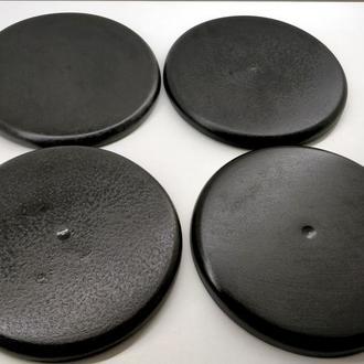 набор подставок под горячее d-17,5 см. - черные
