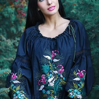 """Вышитая блуза """"Цветок ангела"""" женская вышиванка, нарядная вышиванка, блуза с вышивкой"""