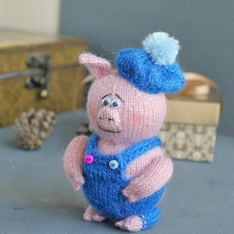 свинка мастер вязаная игрушка спицами ручной работы купить в