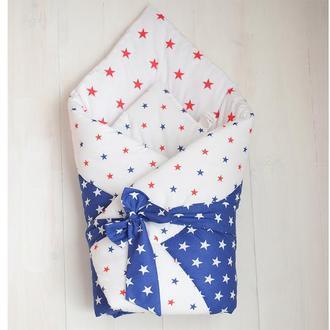 """Одеяло-конверт """"Красное с синим"""""""