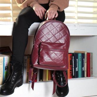 Кожаный городской рюкзак М