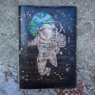 Обложка на паспорт космос, кожаная обложка для паспорта