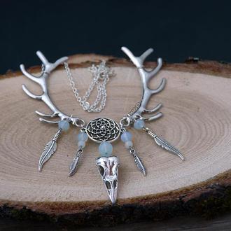 Moonglade (Лунная поляна) - колье из коллекции украшений Shaman`s dream (под заказ)