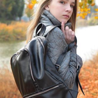 Большой кожаный рюкзак из натуральной кожи
