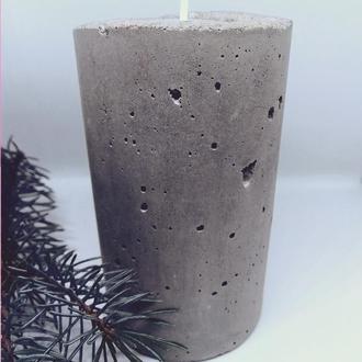 Подсвечник из бетона