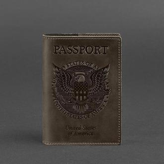 Обложка для паспорта с американским гербом, Орех