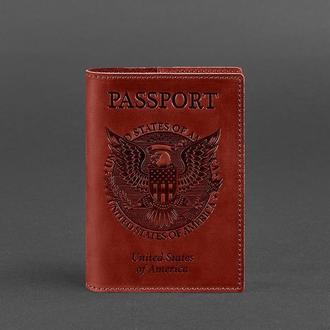 Обложка для паспорта с американским гербом, коралл