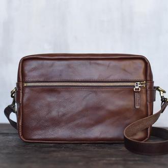 Кожаная сумка-футляр для фотокамеры