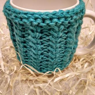 Чашка В вязаном чехле