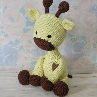 Жираф. Вязаная игрушка  Жирафик