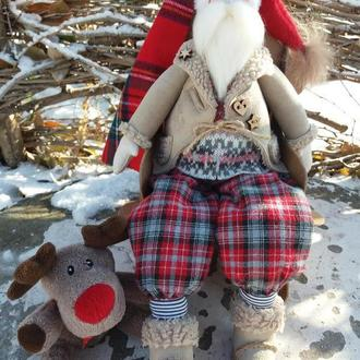Санта в кресле-качалке
