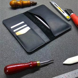 Кожаный портмоне-чехол для телефона. 08008