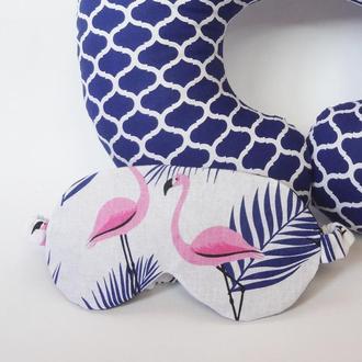 Маска для сна - фламинго, папоротник