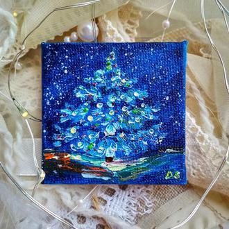 Новогодняя елка (миниатюра)