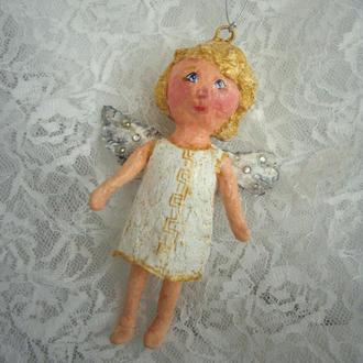 Ватная елочная игрушка Ангел