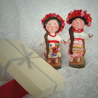 Украинские сувенирные куклы Кумовья