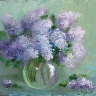 сирень, букет, цветы