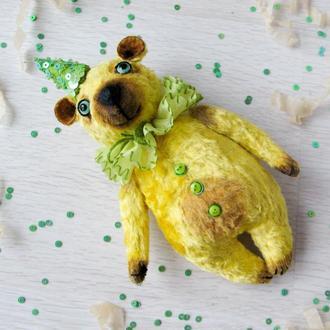 Желтый медведь. Тедди примитив.