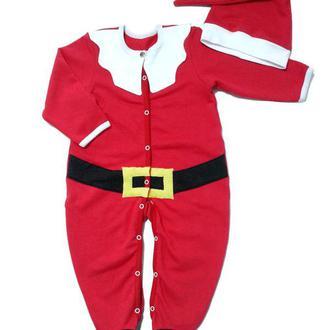Новогодний человечек (костюм) Санта для малыша рр. 56-80
