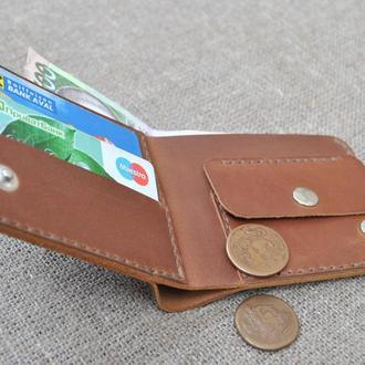 Тонкий коричневый кошелек из натуральной кожи K36-210