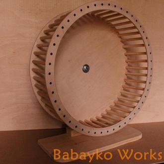 Колесо деревянное беговое для белки