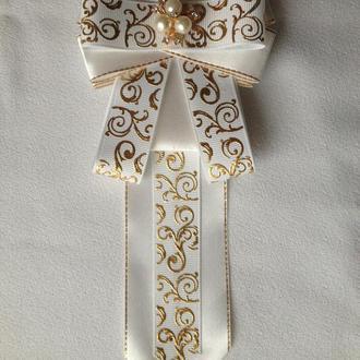 Брошь-галстук нарядный