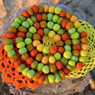 Шарфобусики з вовни мериноса ′Цитрусова свiжiсть′