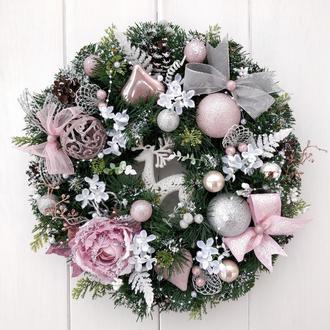 """Рождественский веночек """"Зимняя нежность"""""""