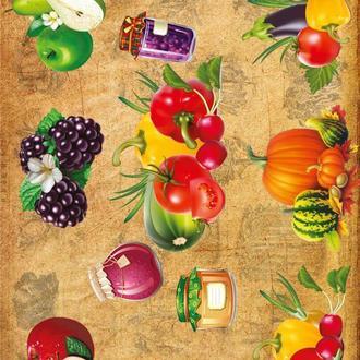 Декупажная карта Кухня Фрукты Овощи Ежевика Тыква Помидор Закрутка 93V 55 г/м2, А4, 210Х290 мм