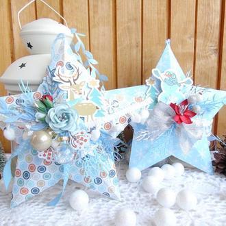 Новогодние подвески на елку в форме звезды