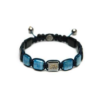 Мужской браслет с синим кианитом  агатом