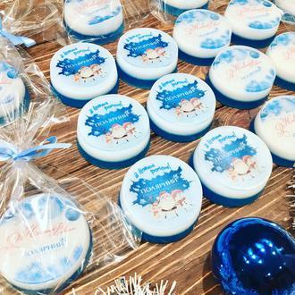 Мыло с логотипом компании на Новый год, 8 Марта или годовщину компании для партнеров и сотрудников