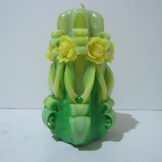 Ароматическая зеленая с розами