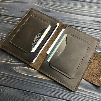 Кожаный холдер-портмоне для документов и карт
