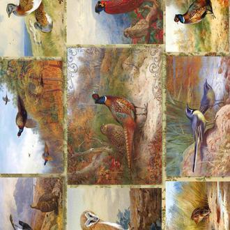 Декупажная карта ТФазан Птицы Охота Винтаж 118V 55 г/м2, А4, 210Х290 мм