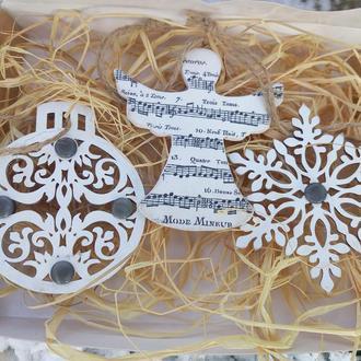 новогодние игрушки Необычные елочные Подарок учителю музыки фортепиано Ангел с нотами