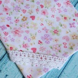 Ткань розовая